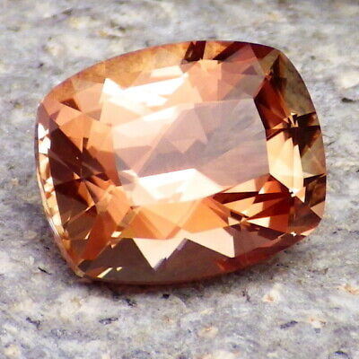 PEACH OREGON SUNSTONE 4.74Ct FLAWLESS-BEAUTIFUL ATTRACTIVE COLOR-FOR TOP JEWELRY