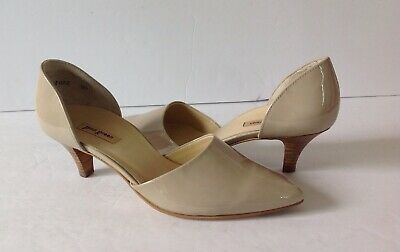 4a122ad0fa8 PAUL GREEN WOMEN S  Julia  d Orsay Pump Taupe Patent Leather - Size ...