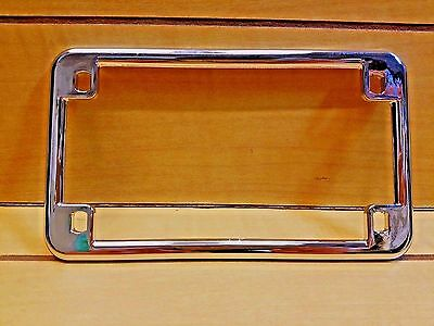 Chrome License Plate Frame For Motorcycle Plain Style