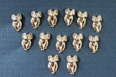 50 x Australian Made 24k Gold Plated Koala Hat / Lapel Pins ( + backs for free)