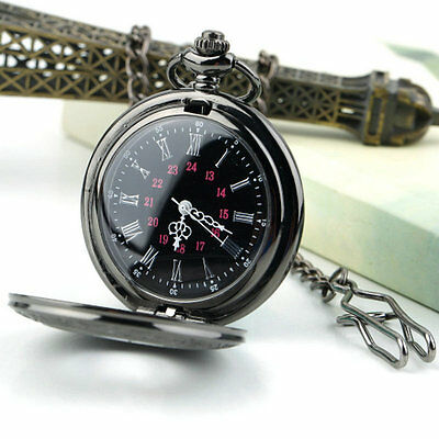 Steampunk Retro Vintage Chain Quartz Pocket Watch Roman Pattern CP CO