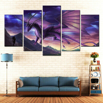5pcs Unframed Modern Art Oil Painting Print Canvas Picture Home Wall Room GTX