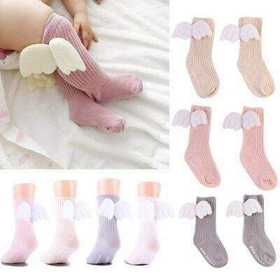 New Cute Baby Cotton Socks Angel Wing Cartoon Hosiery Newborn Toddler Kid Soft