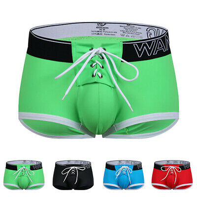 Mens Swim Shorts Swimwear Swimming Trunks Pouch Underwear Boxer Briefs Pants