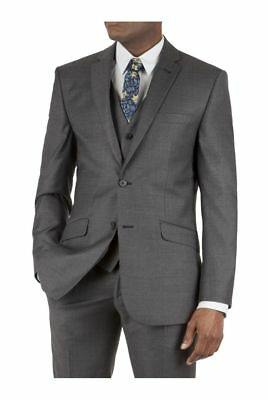 Racing Green Charcoal Jaspe Tailored Fit Suit Jacket 42S TD085 BB 19