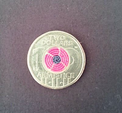 $2 coin 100 years of Armistice poppy 2018 circulated