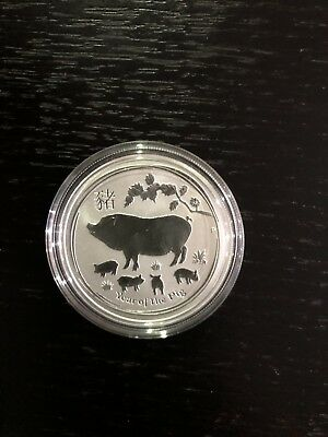 Lunar Year Of The Pig 1/2 Ounce Perth Mint 2019 - 2 Coin Listing -1 Oz Silver