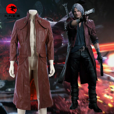 Hzym Devil May Cry V 5 Dante Dmc 5 Cosplay Leather Long