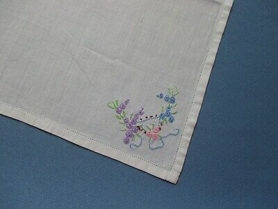 Vintage Embroidered & Hand-Crafted Handkerchief