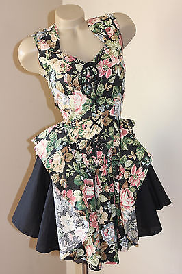 VINTAGE 80's FRENCH ROSE ROPE-UP PARTY DRESS 10