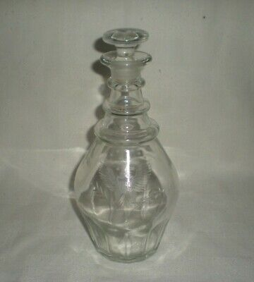 Vtg Old Grand Dad Whiskey Bottle Decanter 4/5 Quart Etched Eagle,Ground Stopper