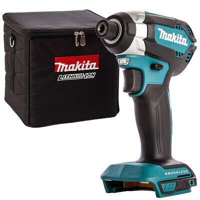 Makita DTD171 18V Brushless 4-Stage Impact Driver with D-54075 13 Pieces Drill Bit Set