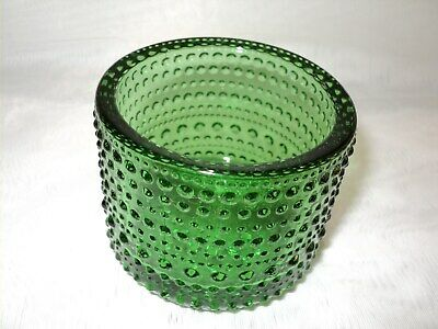 Iittala Kastehelmi Green Glass Candle Holder / Tea Light - Finland