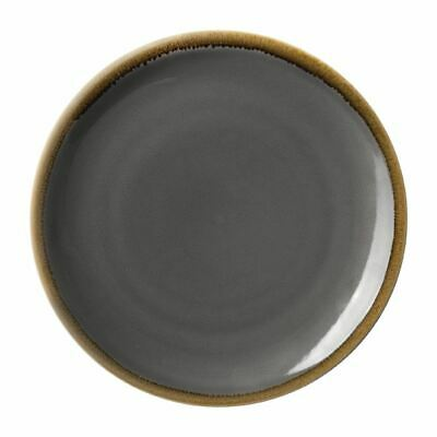 Olympia Kiln Round Coupe Plate in Smoky Gray - Porcelain - 280(Ø) mm