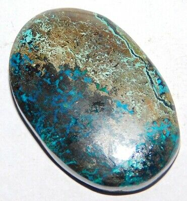 Azurite 63Cts. Natural Oval 1Pcs 38x25MM Cabochon Loose Gemstone 15812