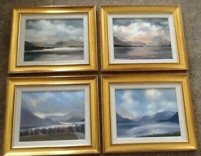 4 Original oil paintings of Ullswater Lake by Margery Stephenson