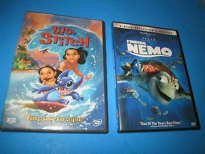 2 DISNEY Collection DVD Finding Nemo WIDE FULL Lilo + Stitch PG G PIXAR    4B4