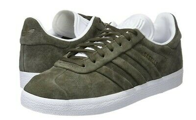Adidas Gazelle Stitch And Turn Trainers Olive Green Mens Womens