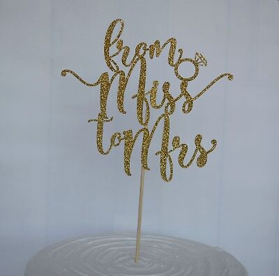 From Miss to Mrs, Hen Party Cake Topper, Bridal Shower Decoration, Bride to Be