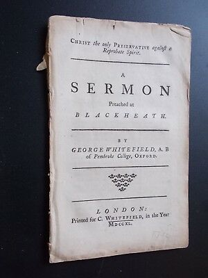 GEORGE WHITEFIELD-Sermon-1740-RARE-Pamphlet-Complete-London-