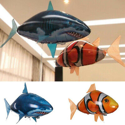 Remote Control Inflatable Balloon Air Swimmer Flying shark Fish Radio Blimp 2019