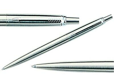Parker Jotter Standard Ballpoint Pen In Black Ink Stainless Steel