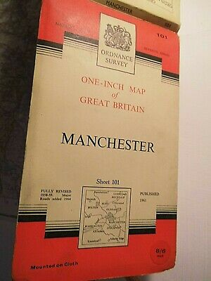 Manchester 1957-61 (64):Classic Os 1St Post War Survey:railways Close 4 Counties
