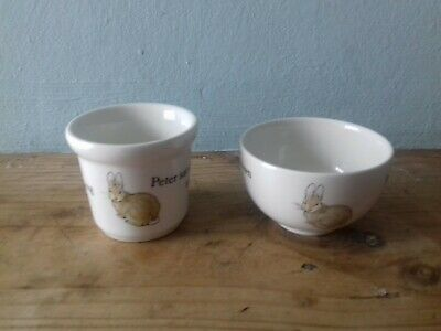 Wedgewood Peter Rabbit Egg Cup and Small Bowl.