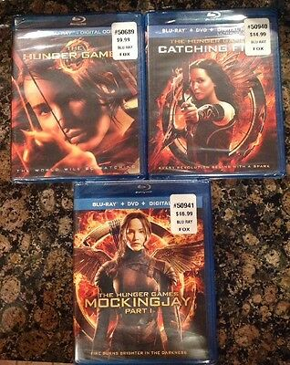 The Hunger Games: Collection (3 Film Collection Blu Ray)NEW Authentic US Release