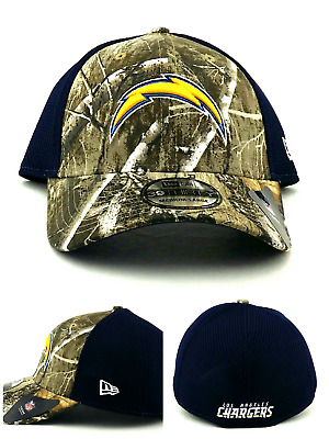 newest 51e04 7c6b8 Los Angeles Chargers New Era 39Thirty Realtree Camo Mesh Neo Blue Hat Cap  M L