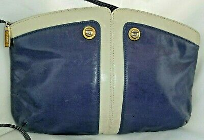 RODO Borsa firmata vintage 1970 pelle viola purple leather signed bag Italy