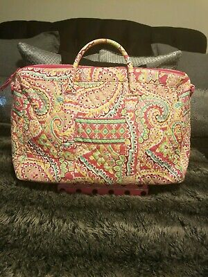 Vera Bradley Large Duffel Pink Floral Pattern Foldable Travel Bag