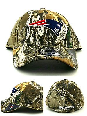 best service 4073d 4d318 New England Patriots New Era 49Forty Realtree Camo Blue Fitted Hat Cap 58cm  M