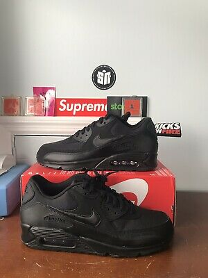 classic fit 78005 aa835 Nike Air Max 90 Essential Black Black Men s Running Shoes 537384-090 11.5 🔥