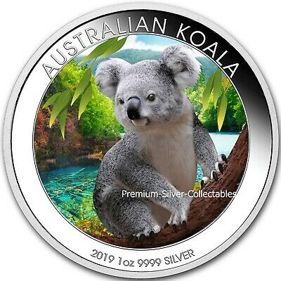 2019 Australia Koala .999 - 1 Ounce Pure Silver Coin - Colorized Series !!!