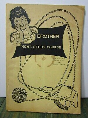 Vintage Brother Home Study Course Knitting with patterns yarn craft sewing diy