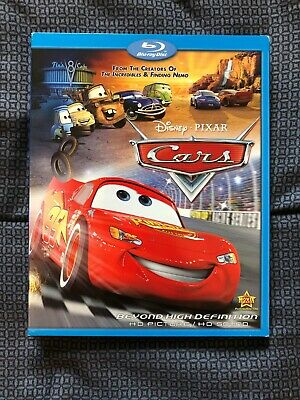 Disney - Pixar Cars Blu-Ray With Slipcover Like New Condition
