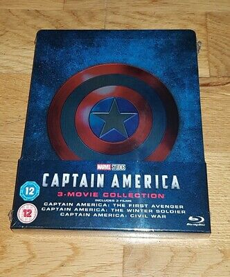 Captain America 1-3 Trilogy Blu-ray Steelbook Brand New and Sealed