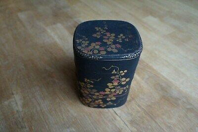 Japanese Black Lacquered Four Tier Stacking Box