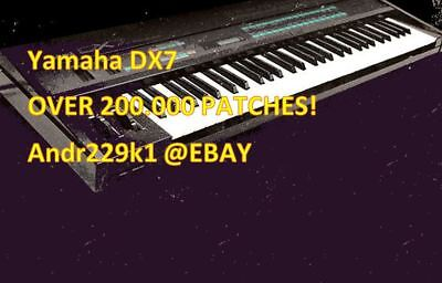 YAMAHA DX-7 DX7 - Patches - Over 200 000+ Patches - INSTANT