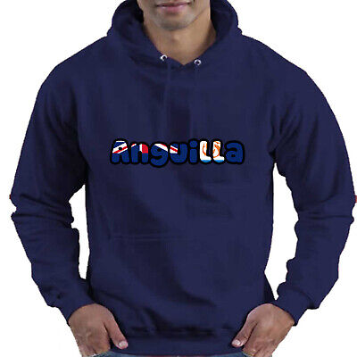 Anguilla Flag Love Childrens Childs Kids Boys Girls Hoodie Hooded Top