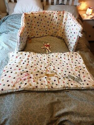 JOULES MAD HATTER pink bumper and quilt set
