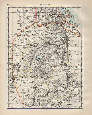 1899 Victorian Map ~ Africa ~ Abyssinia