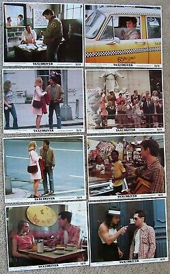 TAXI DRIVER ORIGINAL 1976 SET OF 8 MINI LC's 8X10 ROBERT DE NIRO JODY FOSTER NM