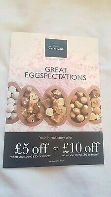 Hotel Chocolat Voucher - £5 off £25/£10 off £50, i.e. 20% off - Easter chocolate