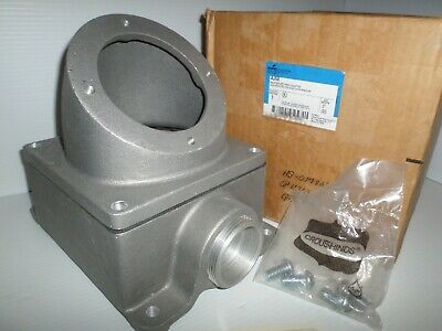 *NEW IN BOX* CROUSE HINDS AJ68 PIN&SLEEVE 200-Amp RECEPTACLE ANGLE BACK BOX 200A