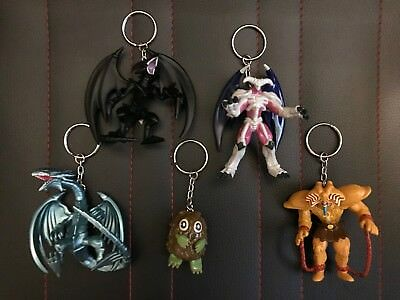 Complete Set of 5 Yugioh Keychain Series 1 Hanger Figures Exodia Blue Eyes