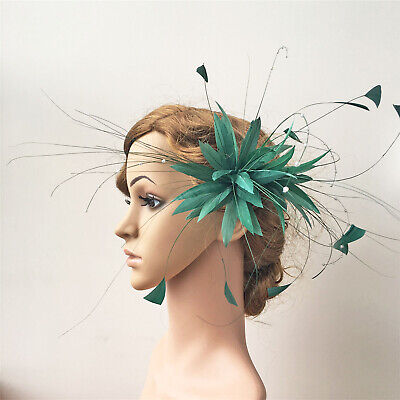 Goose Twisted Mount Stripped Coque Feather Beaded Millinery Hats Fascinator Trim