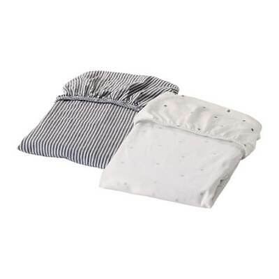 IKEA 2 pack Fitted sheet for cot LEN White MATTRESS 70x140 cm UK-N786