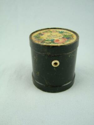 Lovely Victorian, Turned Wooden Sewing Thread Dispenser Box, Merry Christmas Lid